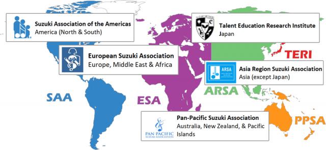 Regional Map Of Asia.Regional Associations International Suzuki Association